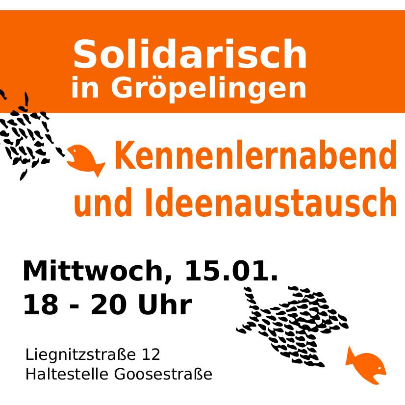 Solidarisch in Gröpelingen, der Zusammenschluss von Mieter*innen lädt zum Kennenlernen