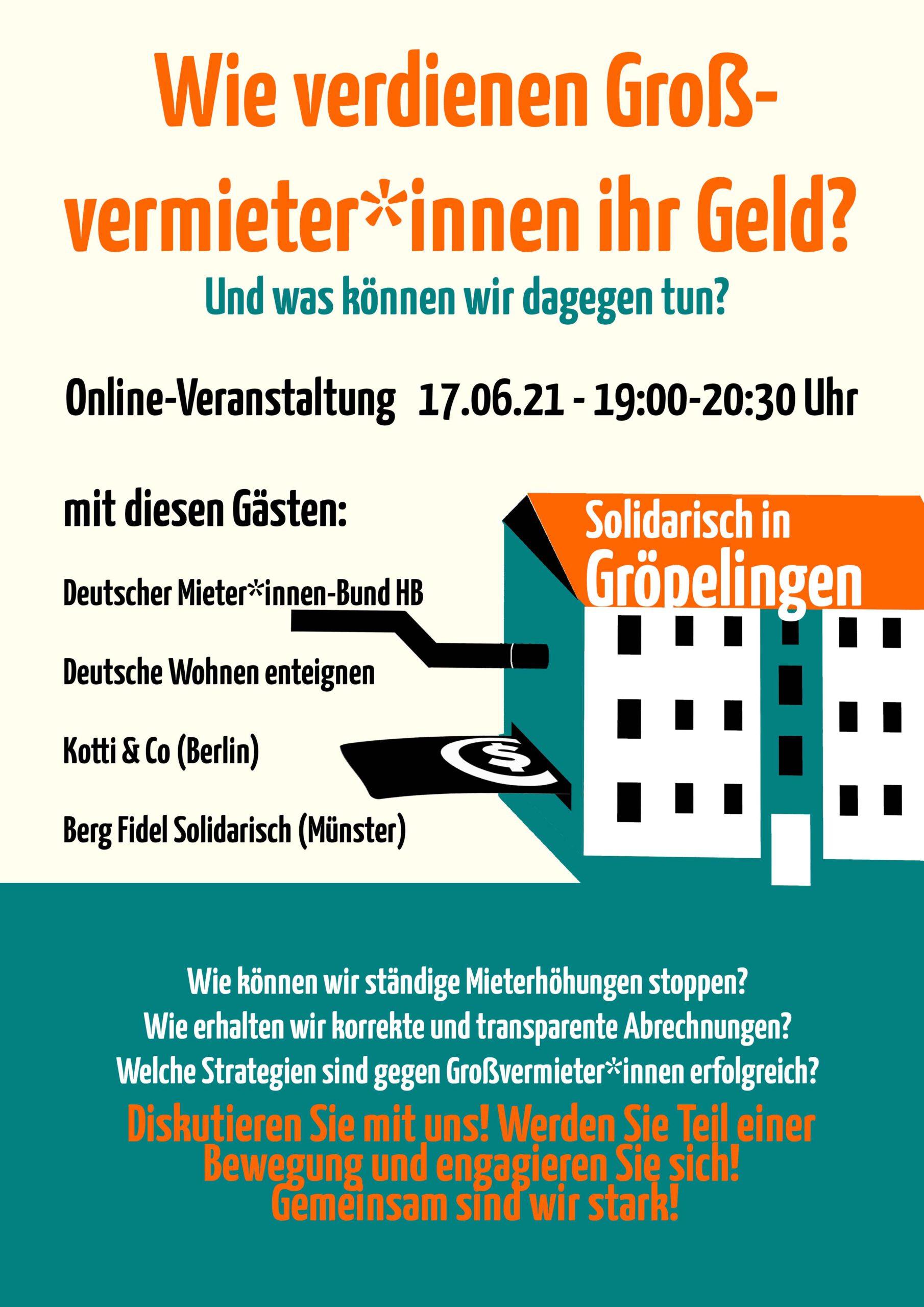 Erste Online-Veranstaltung am 17.06.21 / Thema: Mietpolitik
