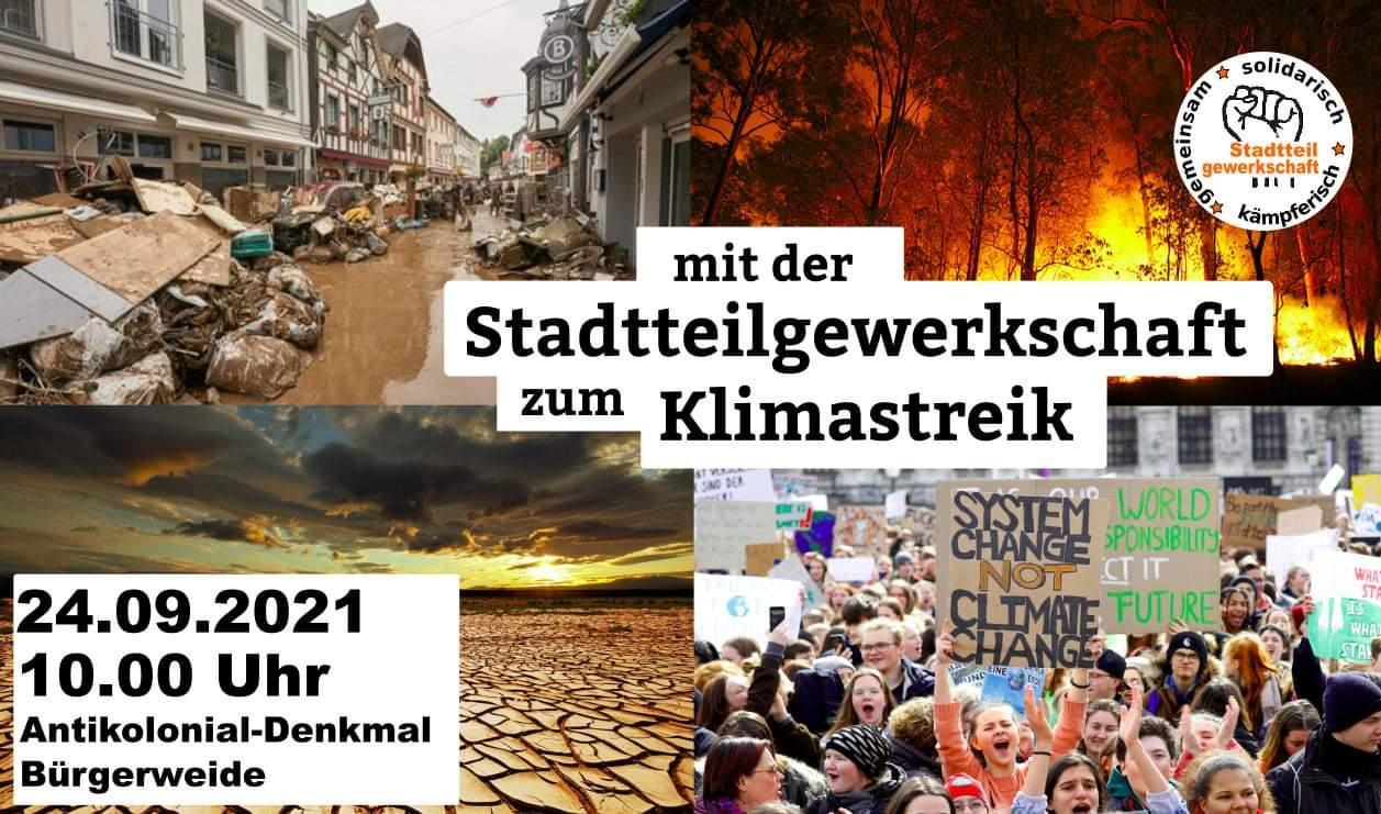 Mit der Stadtteilgewerkschaft zum Klimastreik am 24.09.21